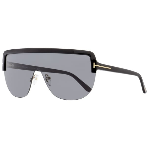 b1e1187328 Shop Tom Ford TF560 Angus-02 01A Unisex Black Gold 0 mm Sunglasses - Free  Shipping Today - Overstock - 22514356
