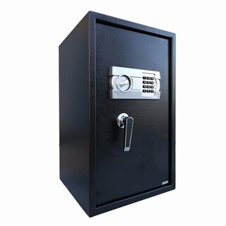 W56ES Home Office Security Keypad Lock Recessed Electronic Digital Steel Safe Box Gray White