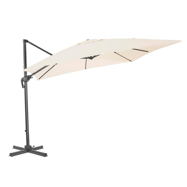 10 X 10 Ft Patio Umbrella Offset Umbrella Cantilever Hanging Umbrella  Outdoor 100% Polyester With
