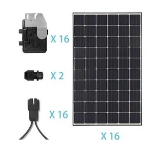 Renogy 4.8KW Grid-Tied Monocrystalline Solar Kit