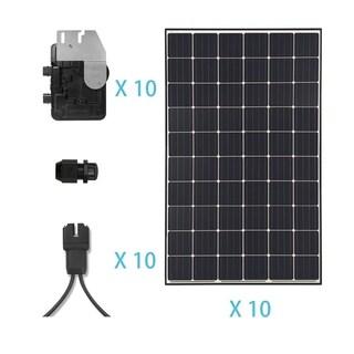 Renogy 3.6KW Grid-Tied Monocrystalline Solar Kit - N/A