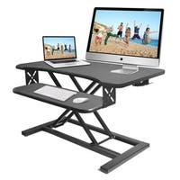 Pyle PDRIS12 Sitting Standing Laptop Computer & Monitor Desk Stand