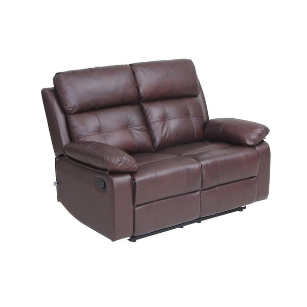 Paloma Reclining Top Grain Leather Sofa: Shop Reclining Sofa 2 Set Top Grain Leather Loveseat With