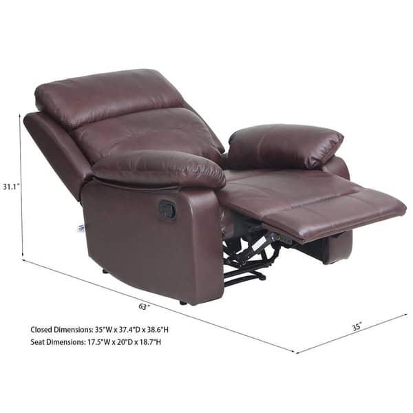 Pleasing Shop Top Grain Leather Sofa Set 1 Seat Sofa Recliner Chair Alphanode Cool Chair Designs And Ideas Alphanodeonline