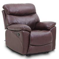 Top Grain Leather Reclining Sofa 1 seat Traditional And Classical Type