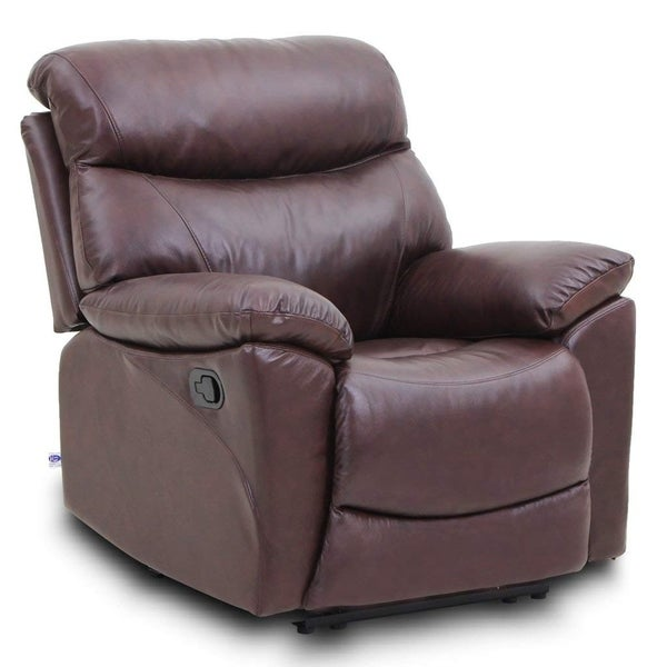 Top Grain Leather Reclining Sofa 1 Seat Traditional And Clical Type