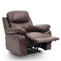 Top Grain Leather Sofa Recliner 1 Seat Classical Style In Brown