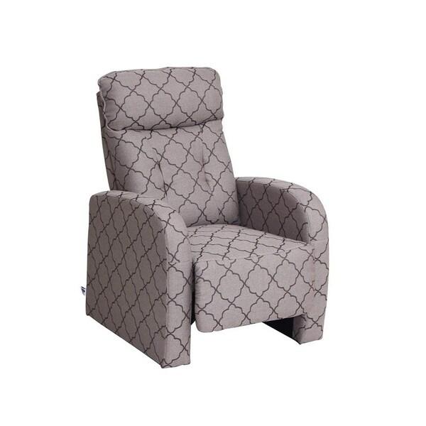 shop fabric recliner chair grey lozenge pattern free shipping