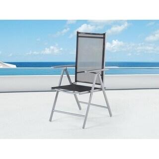 Catania Black Textilene/Aluminum Folding Patio Chair