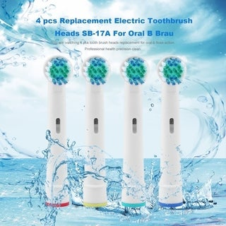 Replacement Electric Toothbrush Heads for Oral B Braun (Pack of 4)