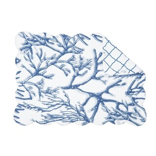 New Caledonia Coastal Cotton Quilted Placemat Set of 6 - N/A