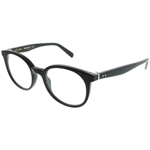 c37e19ff21 Celine Round CL 41349 Thin Mary Small 807 Unisex Black Frame Eyeglasses