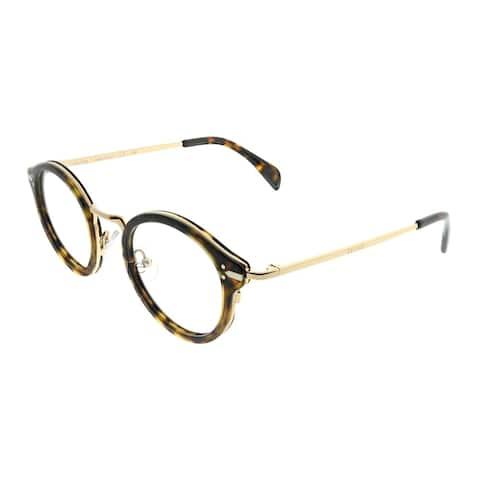 Celine Round CL 41380 Joe ANT Unisex Dark Havana Gold Frame Eyeglasses