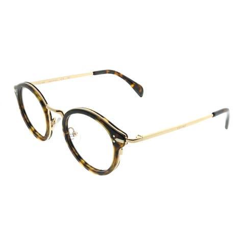 bbff1e56b23d Celine Round CL 41380 Joe ANT Unisex Dark Havana Gold Frame Eyeglasses