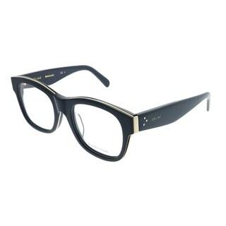 Celine Square CL 41369/F Strat Brow Asian Fit AM0 Unisex Blue Gold Frame Eyeglasses
