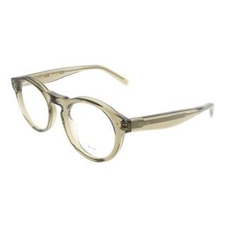 Celine Round CL 41381 Bevel 0ZO Unisex Mud Frame Eyeglasses
