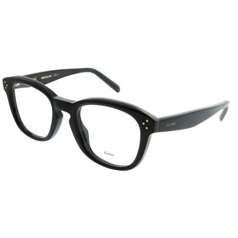 bd25840f12870 Celine Square CL 41387F Bevel Asian Fit 807 Unisex Black Frame Eyeglasses