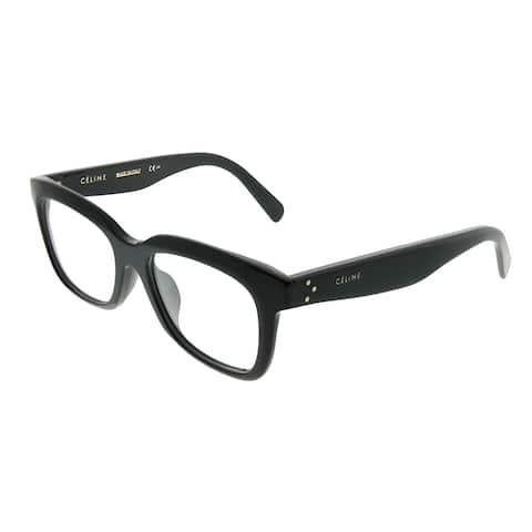 88774e9f60b42 Celine Rectangle CL 41390 F Clara Asian Fit 807 Unisex Black Frame  Eyeglasses
