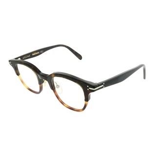 Celine Square CL 41422 Erin T6U Unisex Dark lite Havana Frame Eyeglasses
