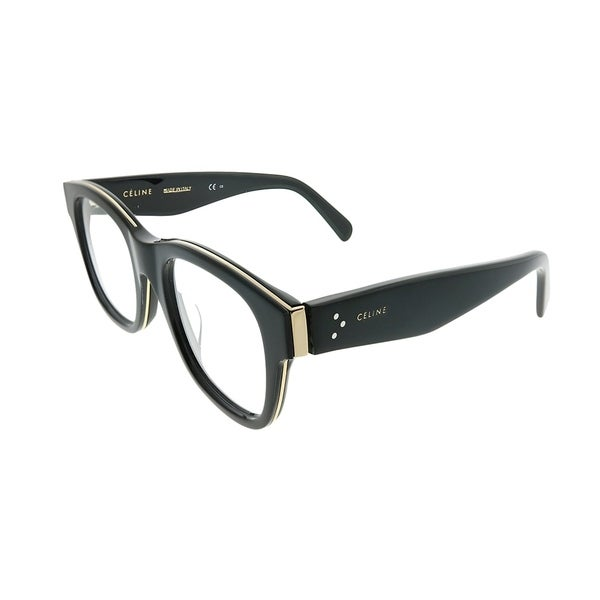 1c74dfbbde1 Celine Square CL 41369 F Strat Brow Asian Fit AUB Unisex Black Gold Frame  Eyeglasses