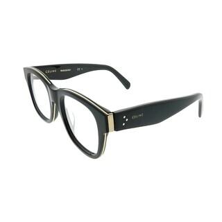 Celine Square CL 41369/F Strat Brow Asian Fit AUB Unisex Black Gold Frame Eyeglasses