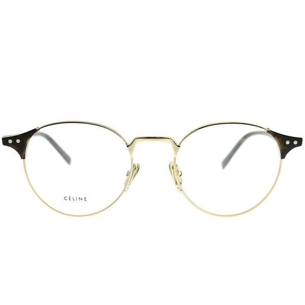 8fc8a8bf660c Celine Round CL 41429 Joan APQ Unisex Gold Dark Havana Frame Eyeglasses