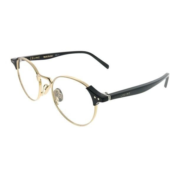 9c53baa852da Celine Round CL 41429 Joan RHL Unisex Gold Black Frame Eyeglasses