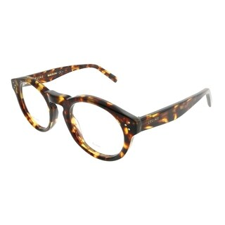 Celine Round CL 41381 Bevel E88 Unisex Blonde Tortoise Frame Eyeglasses