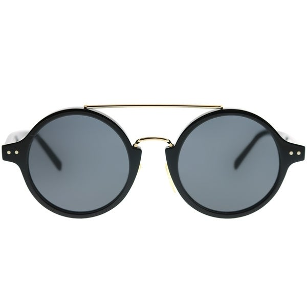7c3830db03 Shop Celine Round CL 41442 F Tailor 807 IR Unisex Black Frame Grey Lens  Sunglasses - Free Shipping Today - Overstock - 22519990