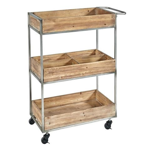 Finn Metal and Wood Cart