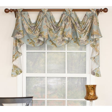 RLF Home Floral Essence 3-Scoop Victory Swag Window Valance