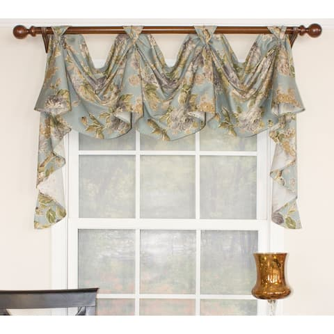 "RLF Home Floral Essence 3-Scoop Victory Swag 54"" Window Valance"