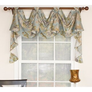 RLF Home Floral Essence 3-Scoop Victory Swag Window Valance (2 options available)