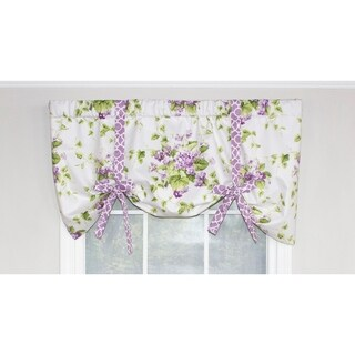 RLF Home Sweet Violets Tie-Up Curtain Valance