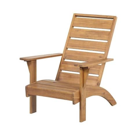 Linon Seacrest Brown Wood Outdoor Chair