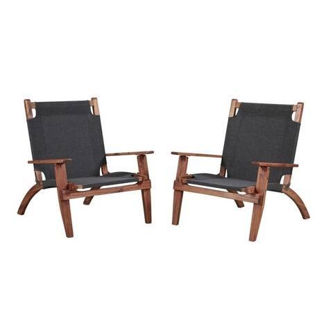 Holden Brown Outdoor Chair (Set of 2)