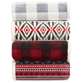Link to Eddie Bauer Plush Plaid Sherpa Blanket Similar Items in Decorative Accessories