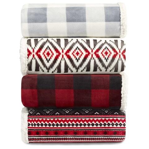 Eddie Bauer Plush Sherpa Blankets