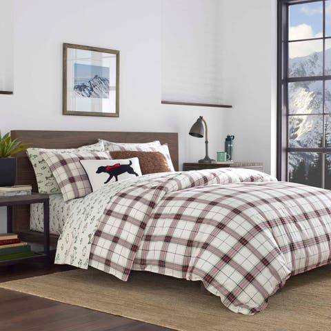 Eddie Bauer Riverdale Plaid Flannel Duvet Cover Set