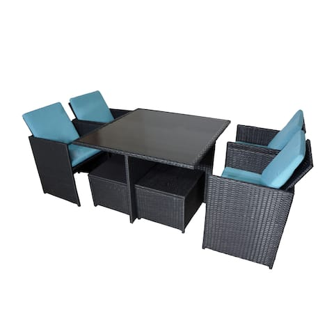 Paradise 9-PC Wicker Dining Set