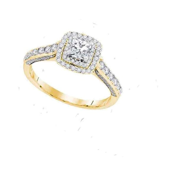 14kt Yellow Gold Womens Princess Diamond Solitaire Bridal Wedding Engagement Ring 1 00 Cttw Size