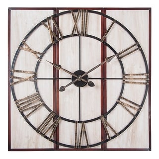 """Link to 3 Piece Oversized Roman Square Wall Clock -32"""" in Beautiful Wood Finish Similar Items in Decorative Accessories"""