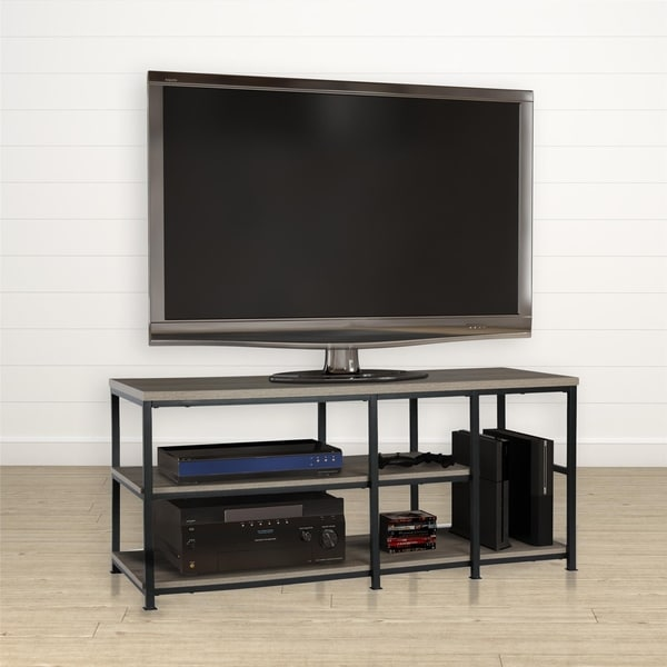 Shop Avenue Greene Rutland Brown Wooden Rustic Oak Tv Stand On