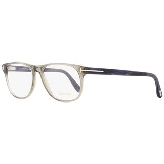 Tom Ford TF5362 020 Mens Opal Gray/Blue Horn 55 mm Eyeglasses - opal gray/blue horn