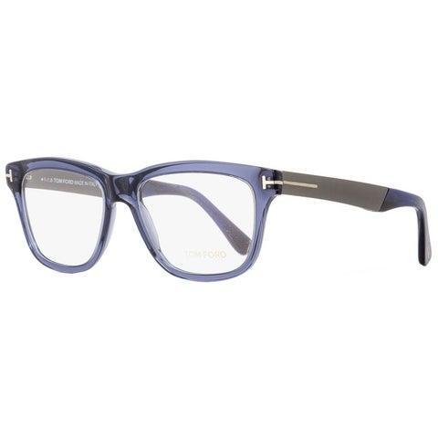 Tom Ford TF5372 090 Mens Transparent Blue/Dark Ruthenium 54 mm Eyeglasses - transparent blue/dark ruthenium