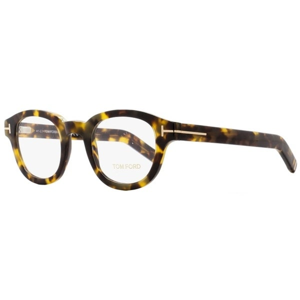 9cc72152c3ee Shop Tom Ford TF5429 055 Mens Tortoise Gold 47 mm Eyeglasses - Free  Shipping Today - Overstock - 22524096