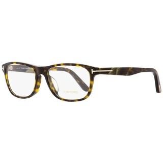 Tom Ford TF5430F 052 Mens Dark Havana/Horn 56 mm Eyeglasses - dark havana/horn