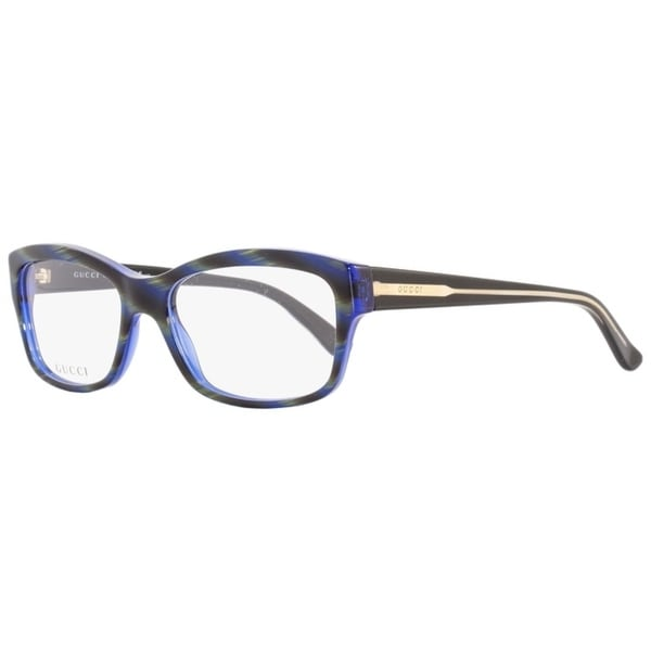 3bccc46557c5 Shop Gucci GG3205 Y0A Mens Blue/Olive Horn 53 mm Eyeglasses - blue/olive  horn - Free Shipping Today - Overstock - 22524110