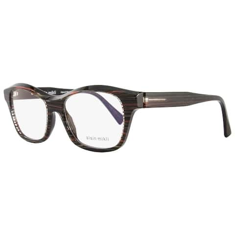 Alain Mikli A03006 B012 Mens Black/Gray/Red Striped 52 mm Eyeglasses - black/gray/red striped