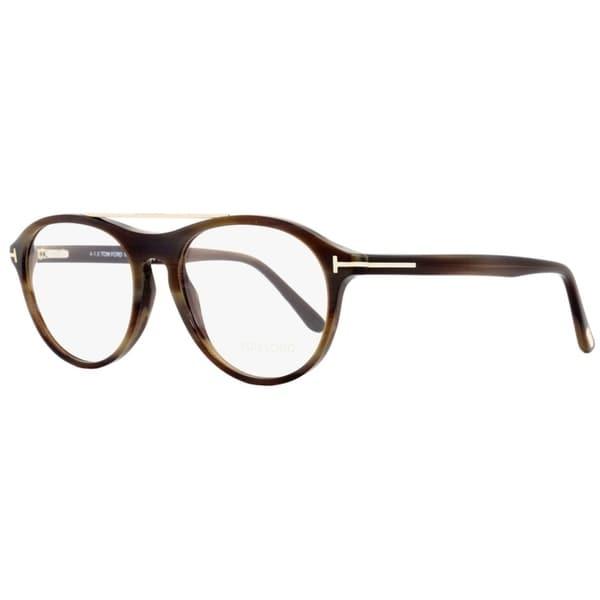 8ac7556c150 Tom Ford TF5411 062 Mens Brown Horn Gold 53 mm Eyeglasses - brown horn